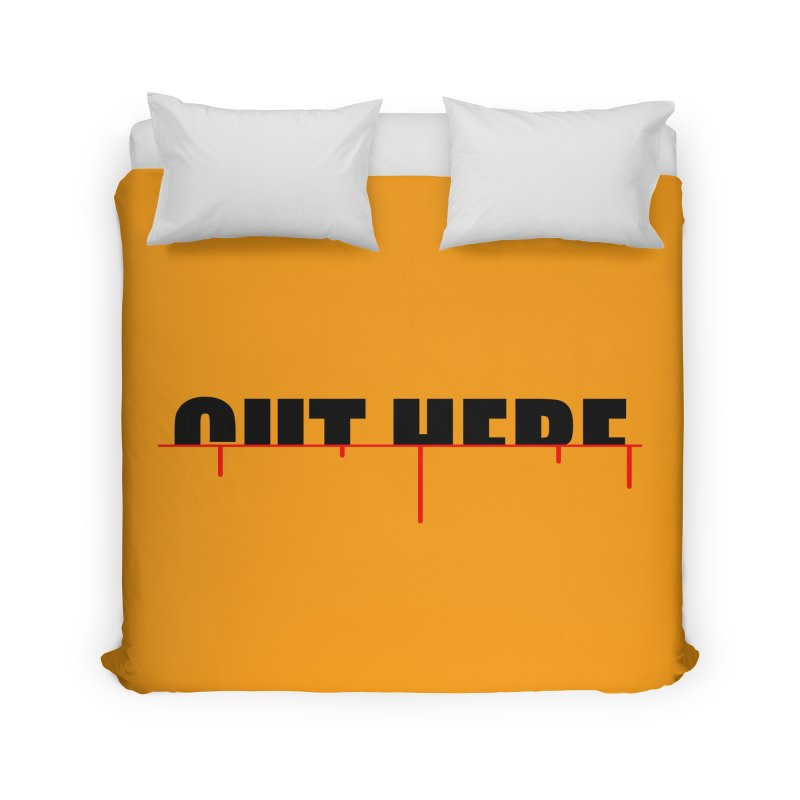 Cut Here Home Duvet by iconnico