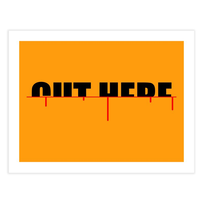Cut Here Home Fine Art Print by iconnico