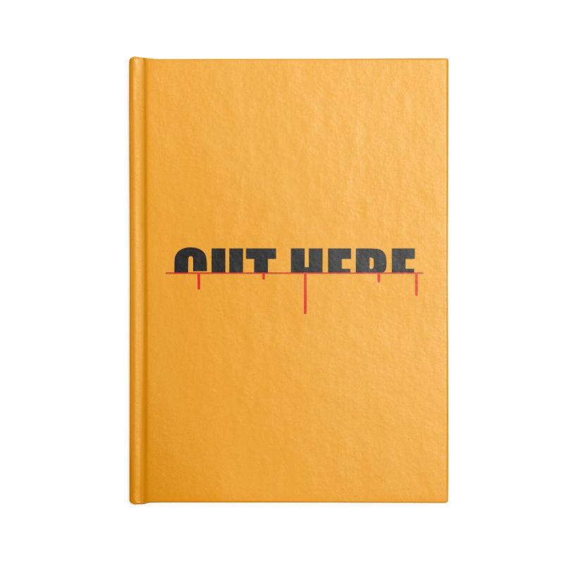 Cut Here Accessories Blank Journal Notebook by iconnico