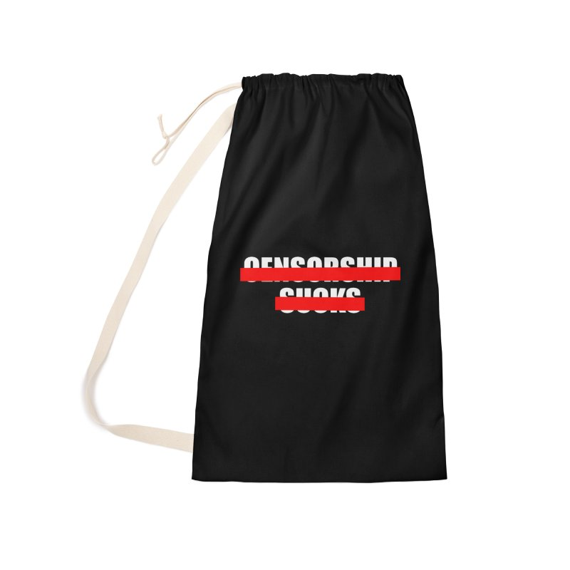 Censored Accessories Laundry Bag Bag by iconnico