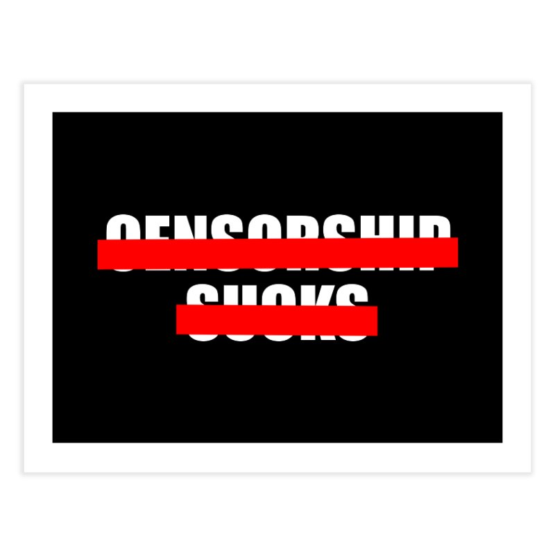 Censored Home Fine Art Print by iconnico