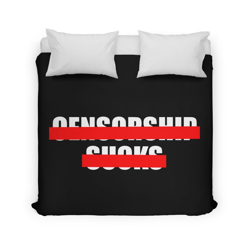Censored Home Duvet by iconnico