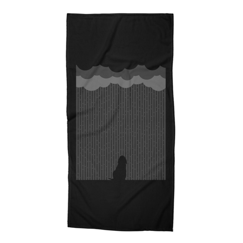 Lonely Dog Accessories Beach Towel by iconnico