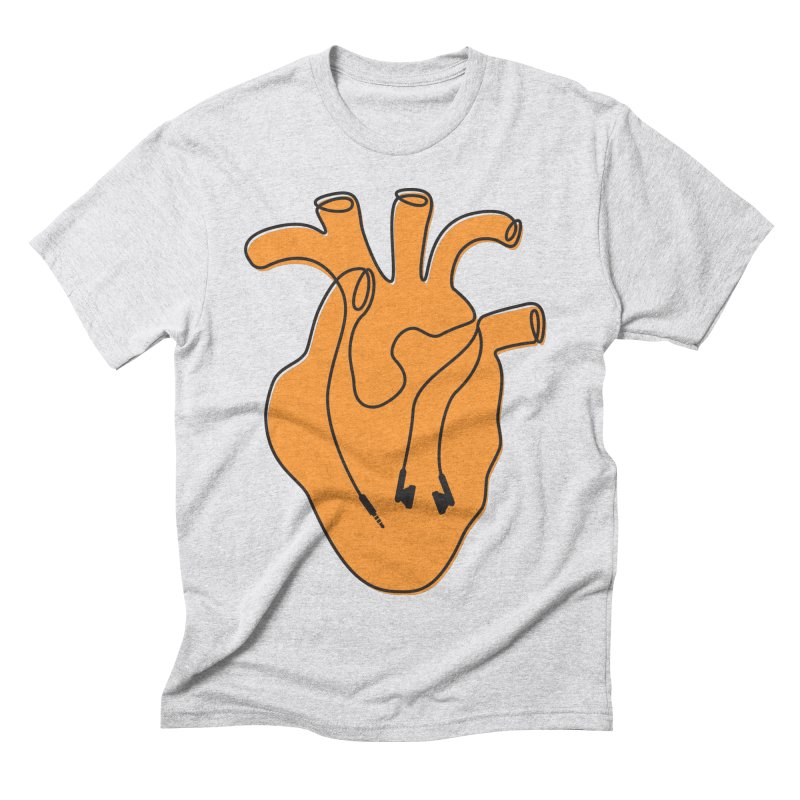 Listen To Your Heart Men's T-Shirt by iconnico
