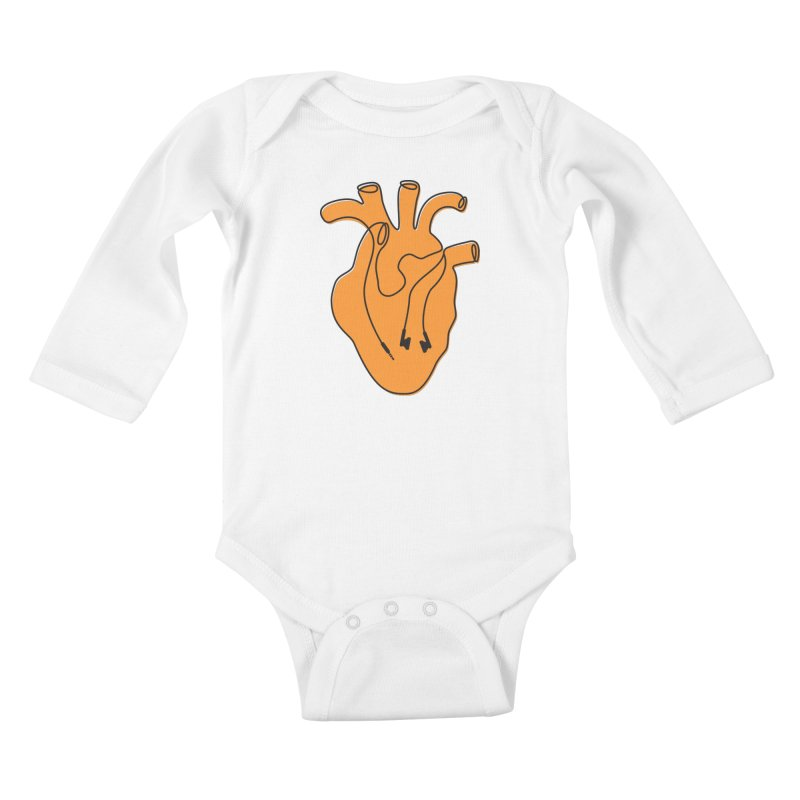 Listen To Your Heart Kids Baby Longsleeve Bodysuit by iconnico