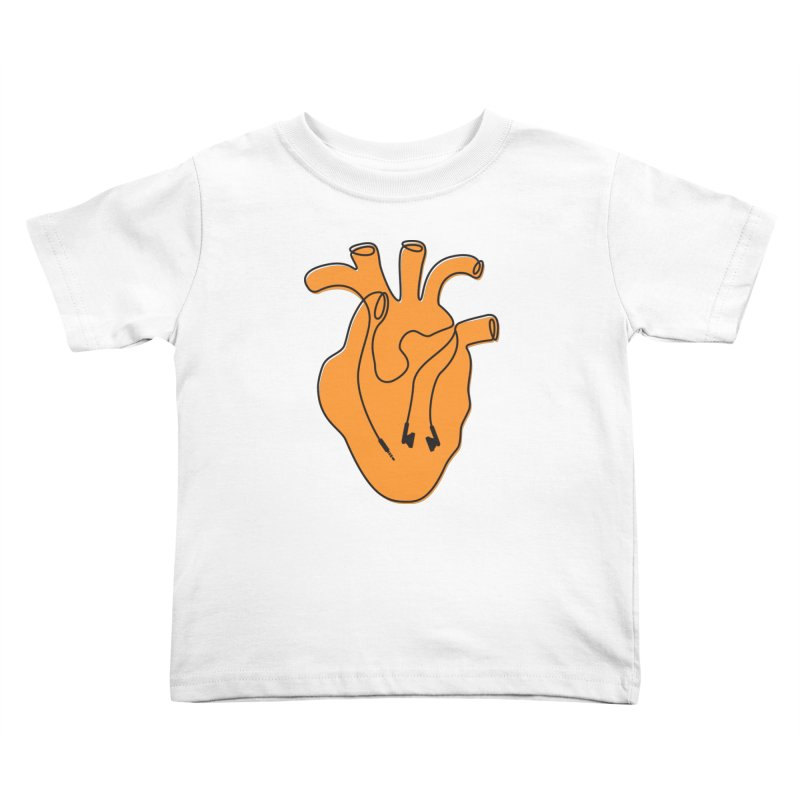 Listen To Your Heart Kids Toddler T-Shirt by iconnico