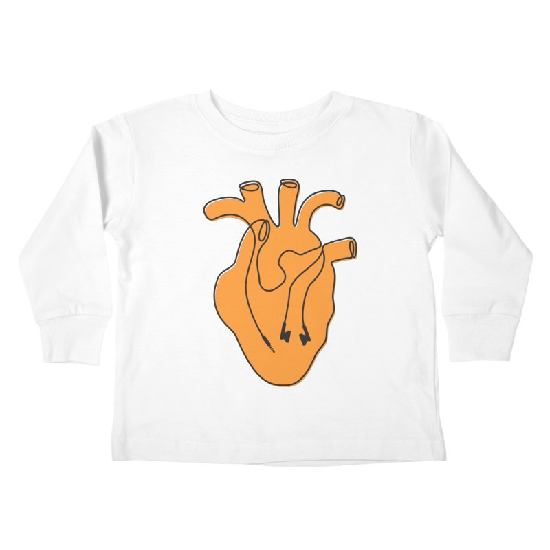 Listen To Your Heart Kids Toddler Longsleeve T-Shirt by iconnico