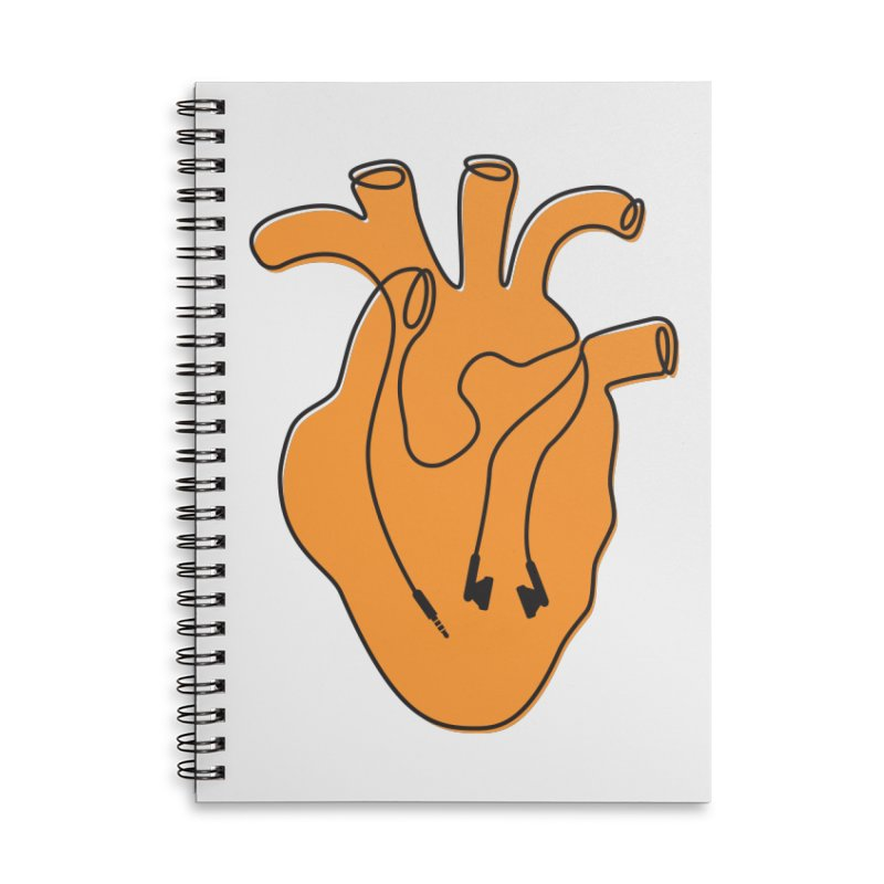 Listen To Your Heart Accessories Lined Spiral Notebook by iconnico