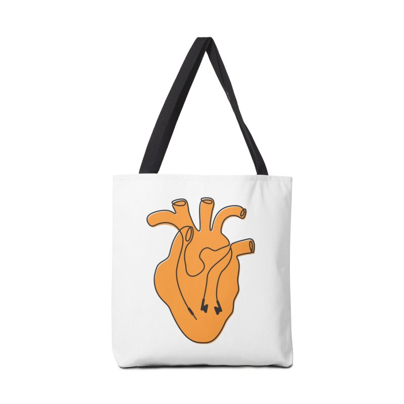 Listen To Your Heart Accessories Bag by iconnico