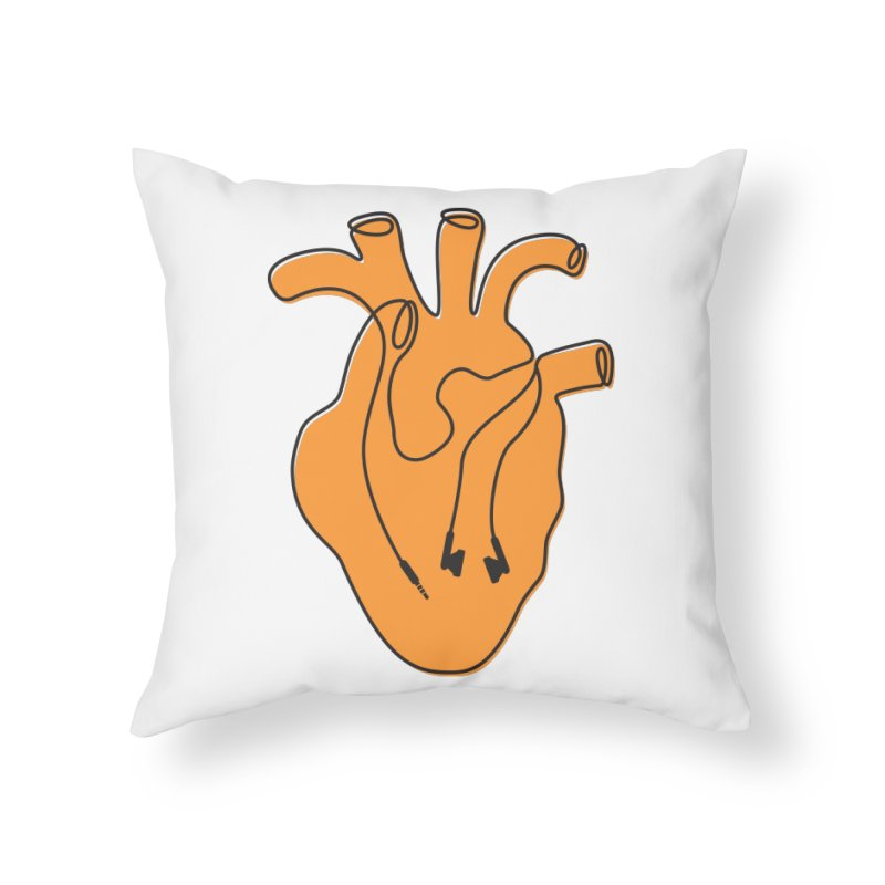 Listen To Your Heart Home Throw Pillow by iconnico