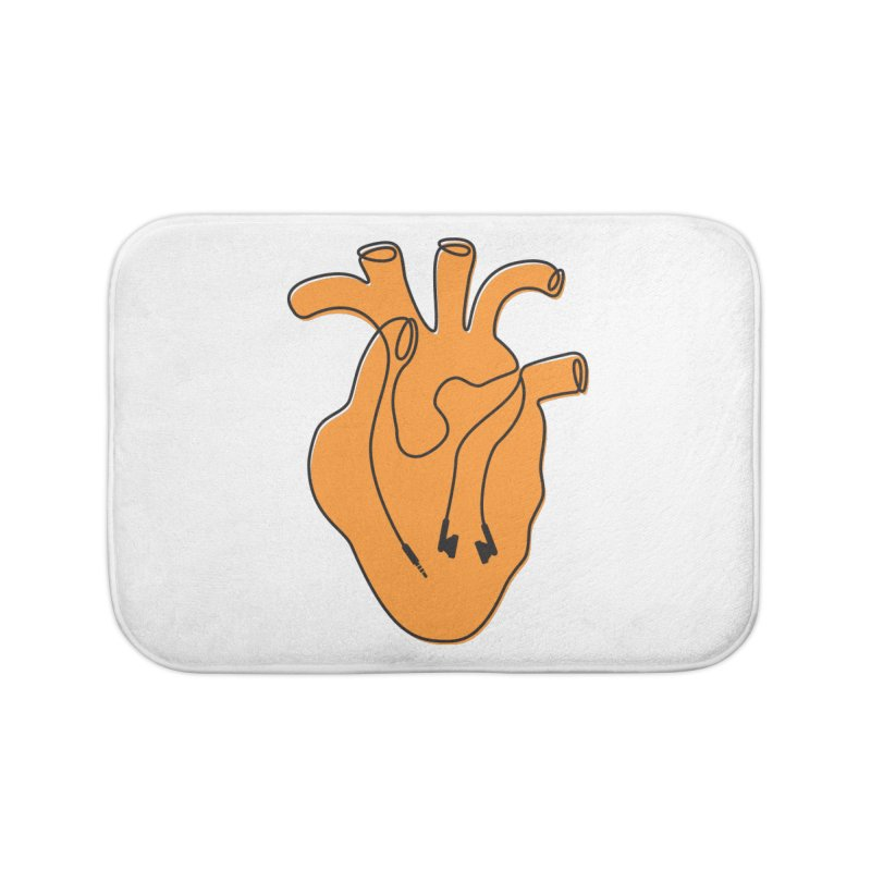 Listen To Your Heart Home Bath Mat by iconnico