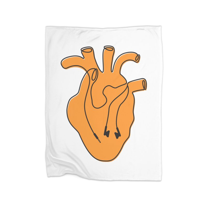 Listen To Your Heart Home Fleece Blanket Blanket by iconnico