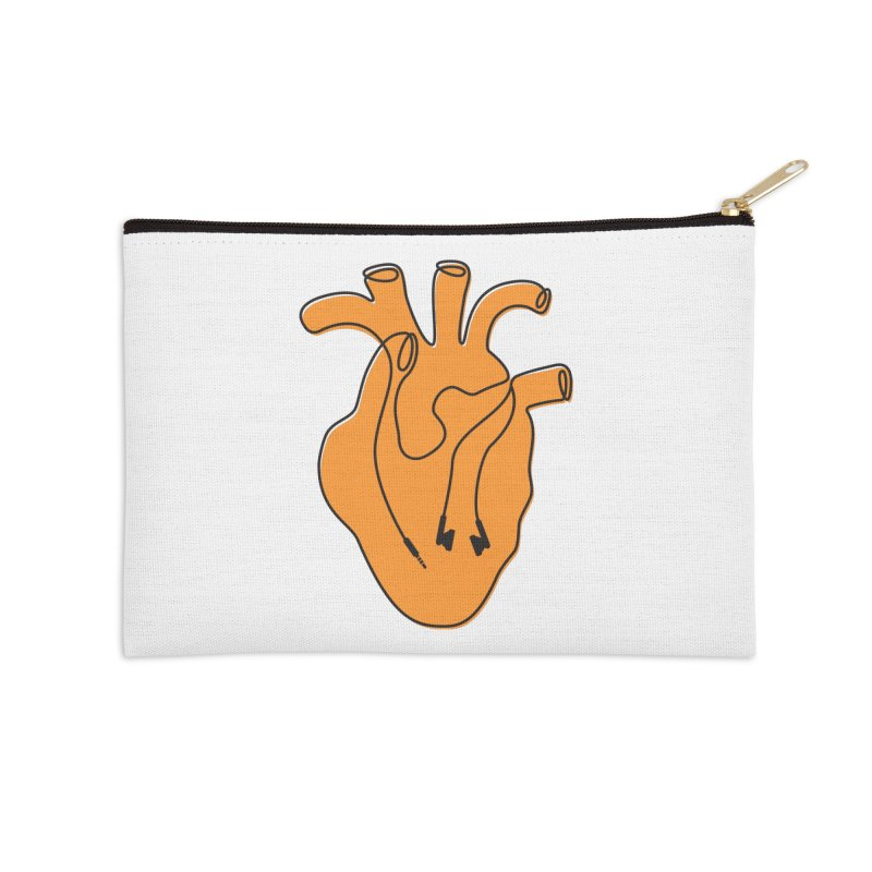 Listen To Your Heart Accessories Zip Pouch by iconnico