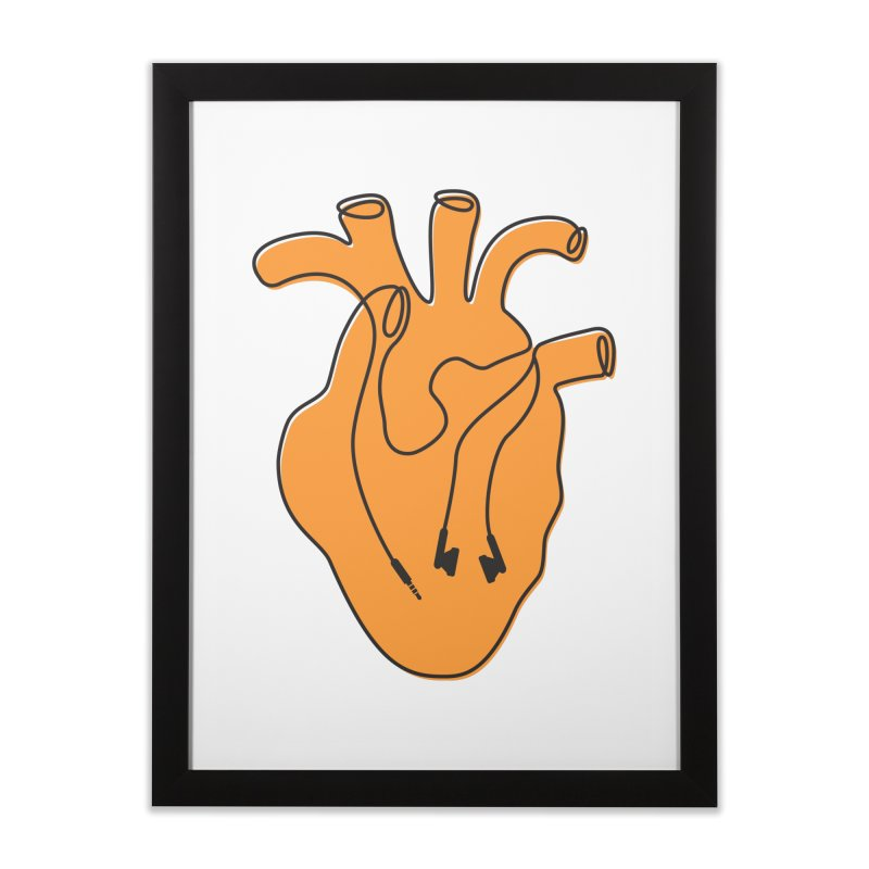 Listen To Your Heart Home Framed Fine Art Print by iconnico