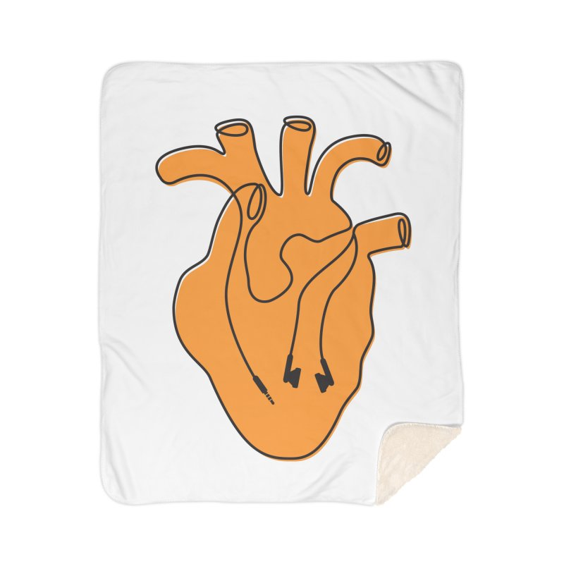 Listen To Your Heart Home Sherpa Blanket Blanket by iconnico
