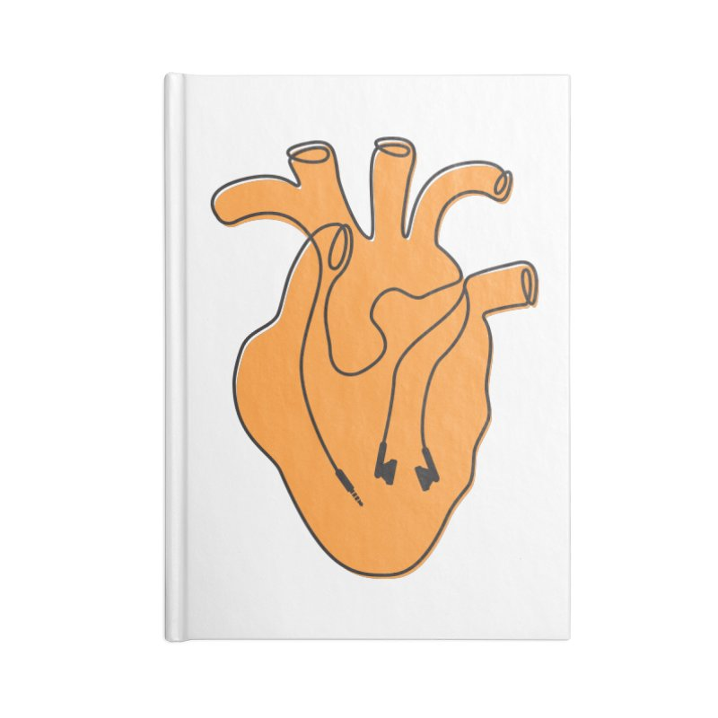 Listen To Your Heart Accessories Blank Journal Notebook by iconnico