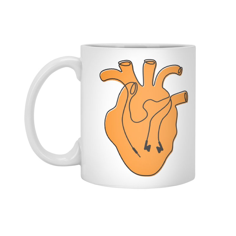 Listen To Your Heart Accessories Standard Mug by iconnico