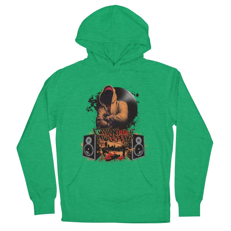 Hip Hop Women's French Terry Pullover Hoody by Ideacrylic Shop