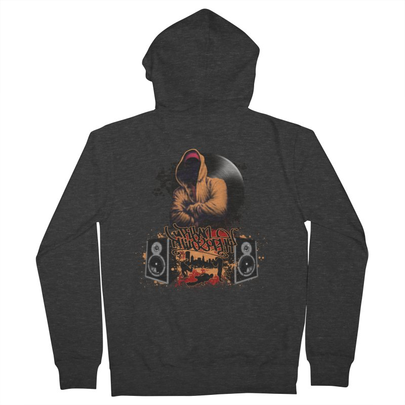 Hip Hop Women's French Terry Zip-Up Hoody by Ideacrylic Shop