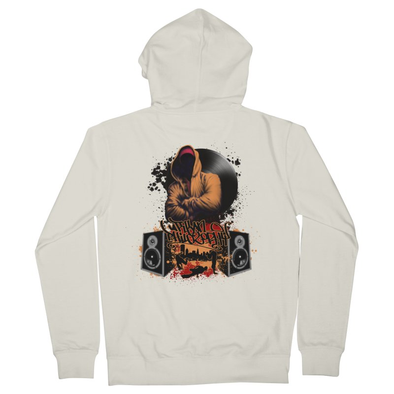 Hip Hop Men's French Terry Zip-Up Hoody by Ideacrylic Shop