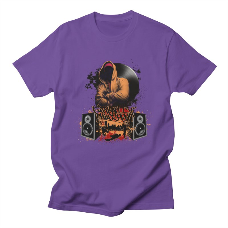 Hip Hop Men's Regular T-Shirt by Ideacrylic Shop