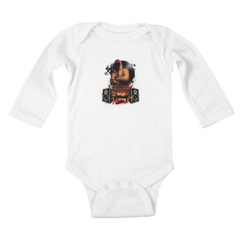 Hip Hop Kids Baby Longsleeve Bodysuit by Ideacrylic Shop