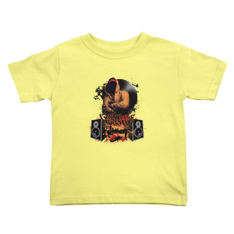 Hip Hop Kids Toddler T-Shirt by Ideacrylic Shop