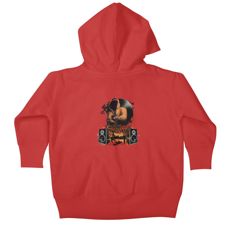 Hip Hop Kids Baby Zip-Up Hoody by Ideacrylic Shop