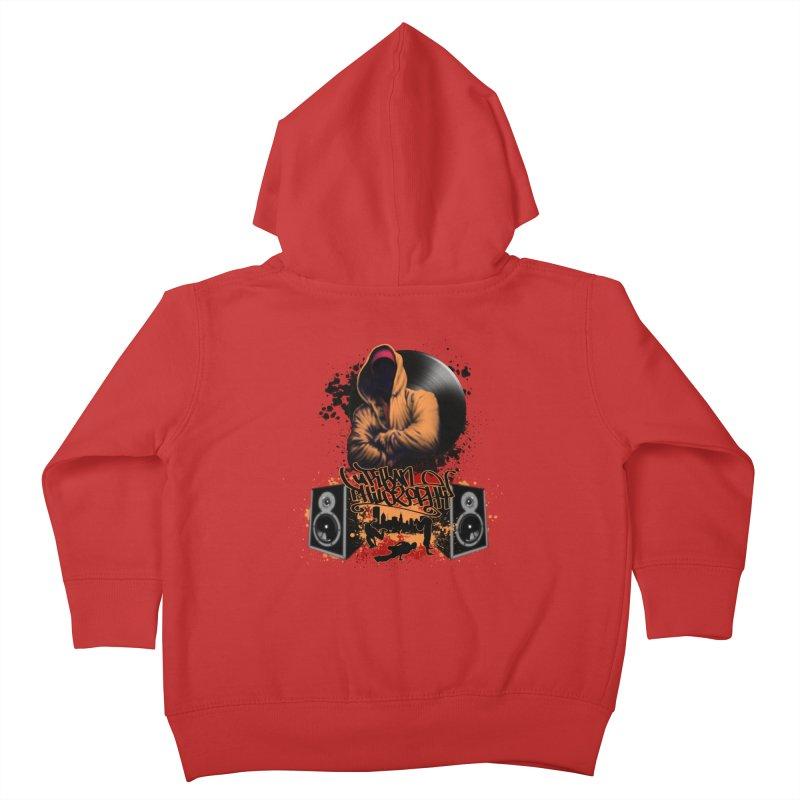 Hip Hop Kids Toddler Zip-Up Hoody by Ideacrylic Shop