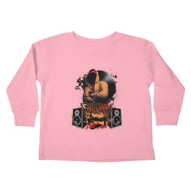 Hip Hop Kids Toddler Longsleeve T-Shirt by Ideacrylic Shop