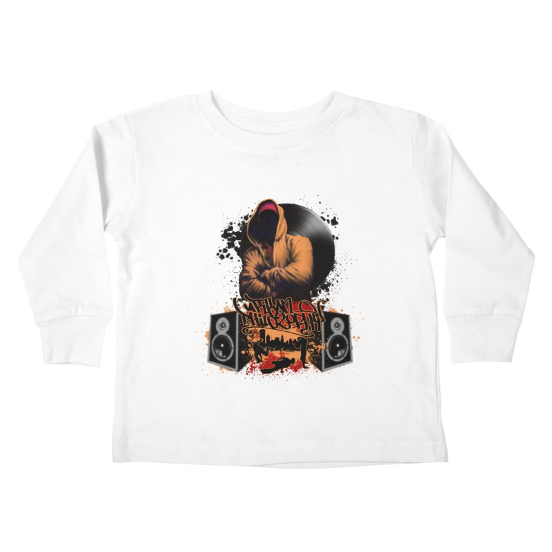 Hip Hop Kids Toddler Longsleeve T-Shirt by Ideacrylic Shop