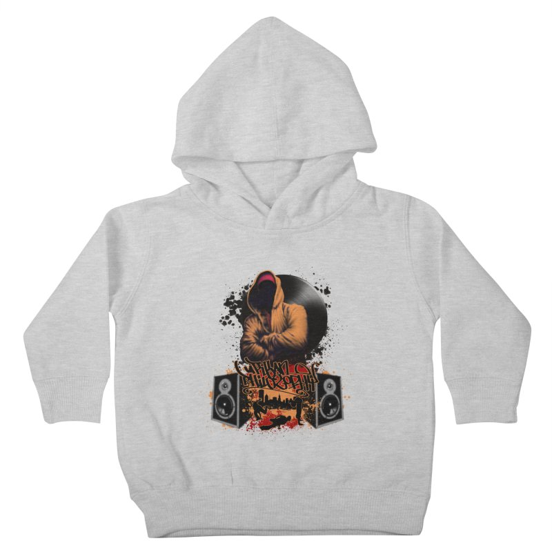 Hip Hop Kids Toddler Pullover Hoody by Ideacrylic Shop