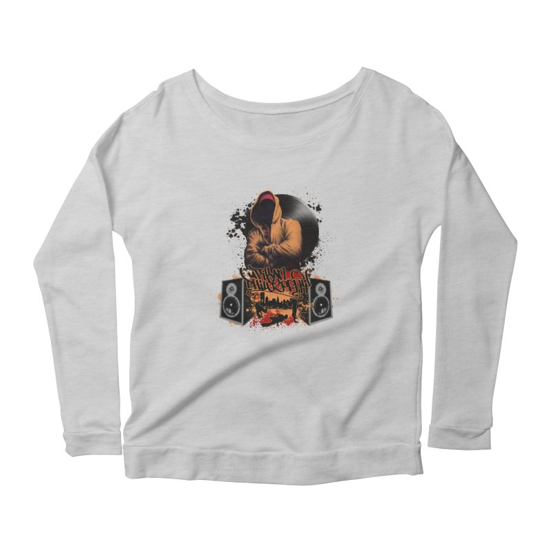 Hip Hop Women's Scoop Neck Longsleeve T-Shirt by Ideacrylic Shop