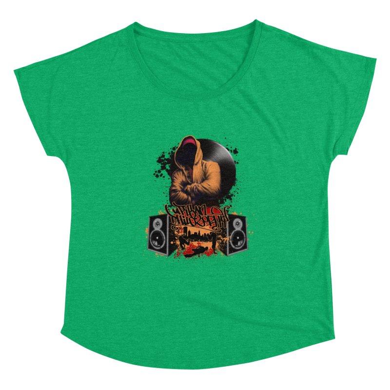 Hip Hop Women's Dolman Scoop Neck by Ideacrylic Shop