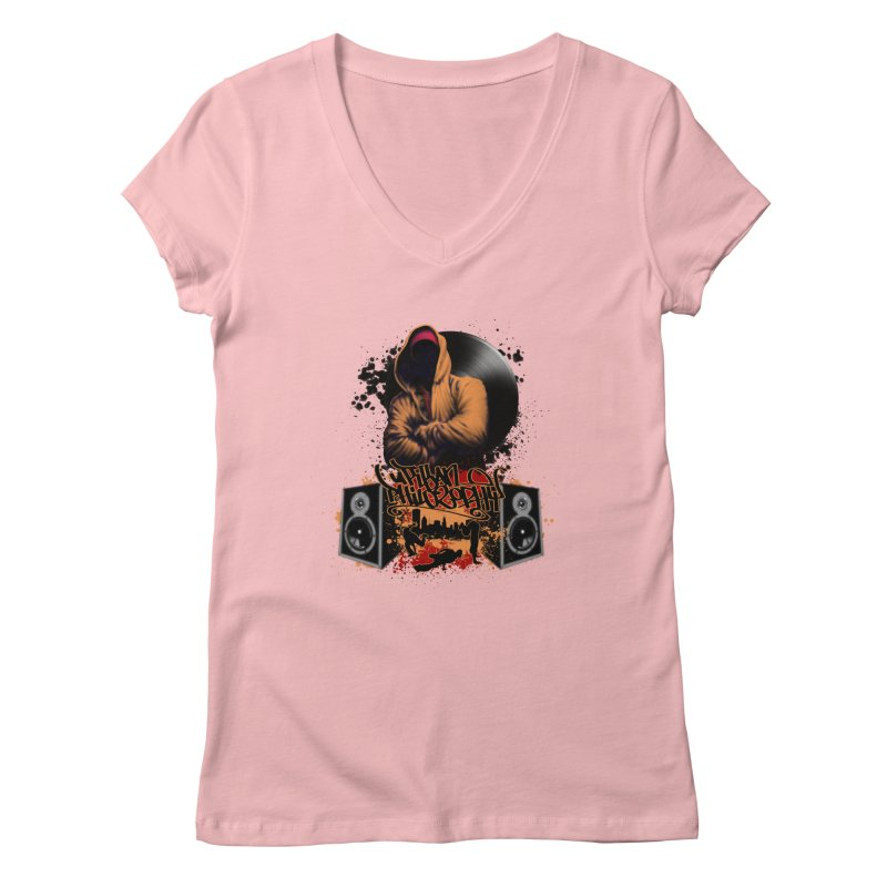 Hip Hop Women's Regular V-Neck by Ideacrylic Shop