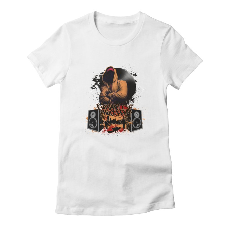 Hip Hop Women's Fitted T-Shirt by Ideacrylic Shop