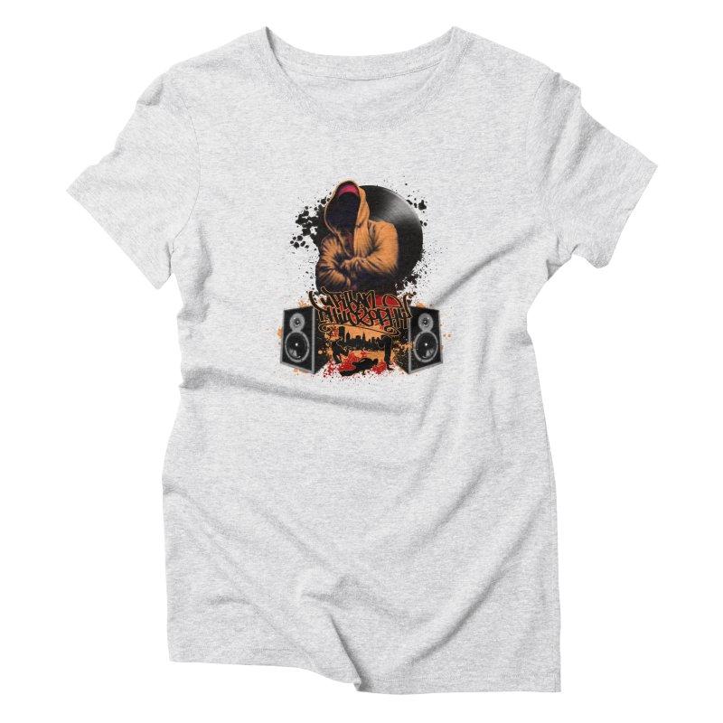 Hip Hop Women's Triblend T-Shirt by Ideacrylic Shop
