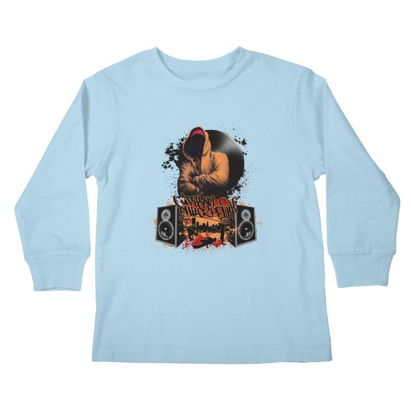 Hip Hop Kids Longsleeve T-Shirt by Ideacrylic Shop