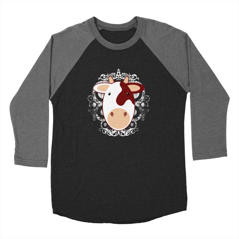 Cowwy Women's Baseball Triblend Longsleeve T-Shirt by Ideacrylic Shop