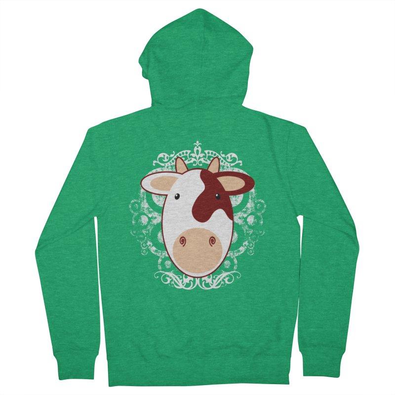 Cowwy Women's Zip-Up Hoody by Ideacrylic Shop