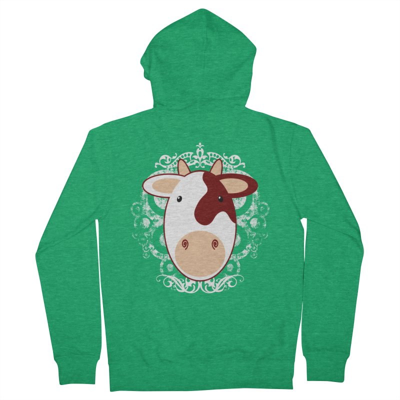 Cowwy Men's Zip-Up Hoody by Ideacrylic Shop