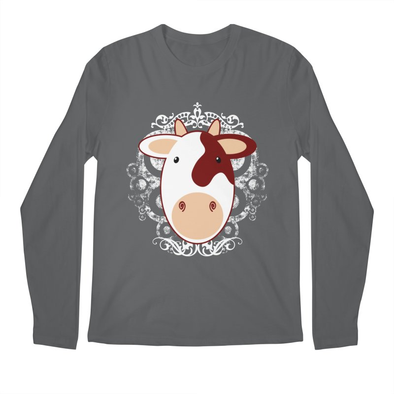 Cowwy Men's Longsleeve T-Shirt by Ideacrylic Shop