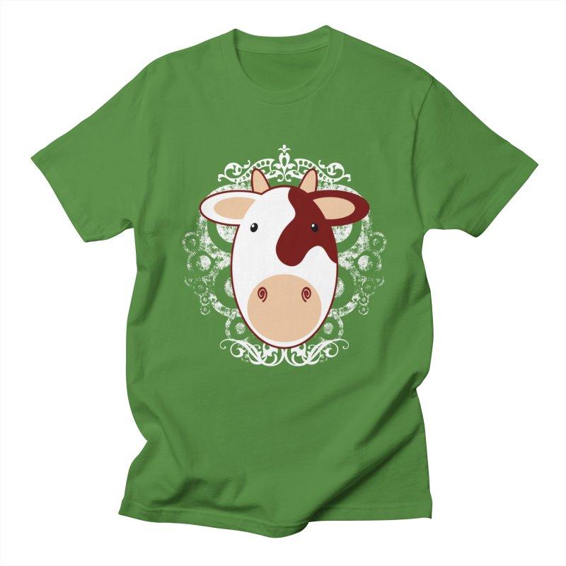 Cowwy Men's Regular T-Shirt by Ideacrylic Shop