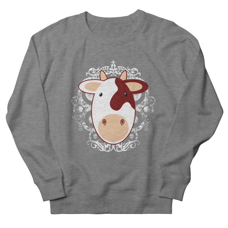 Cowwy Women's French Terry Sweatshirt by Ideacrylic Shop