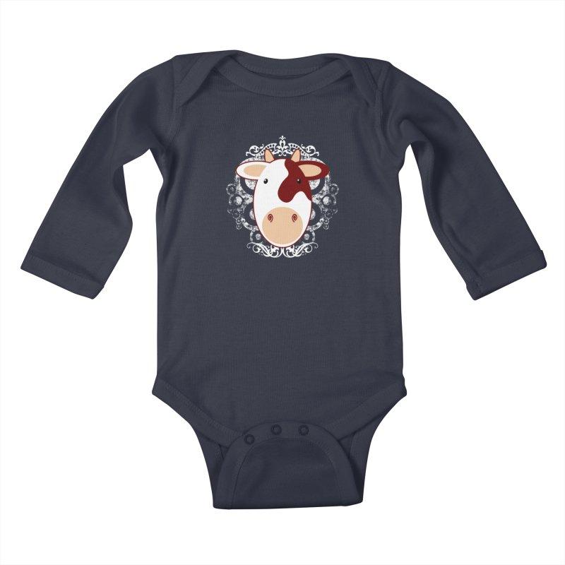 Cowwy Kids Baby Longsleeve Bodysuit by Ideacrylic Shop