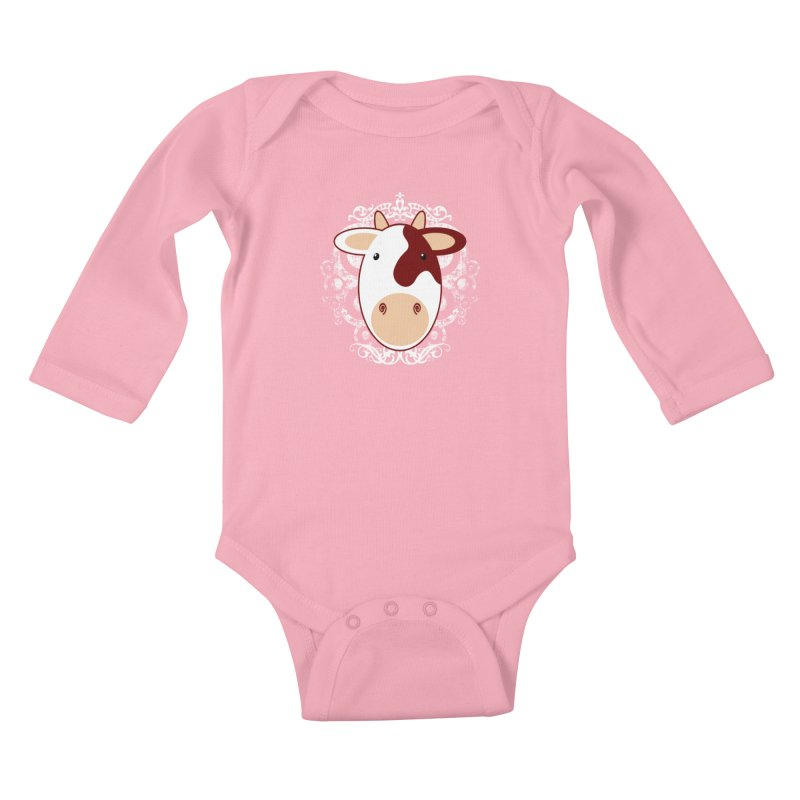 Cowwy Kids Baby Longsleeve Bodysuit by Ideacrylic Shop