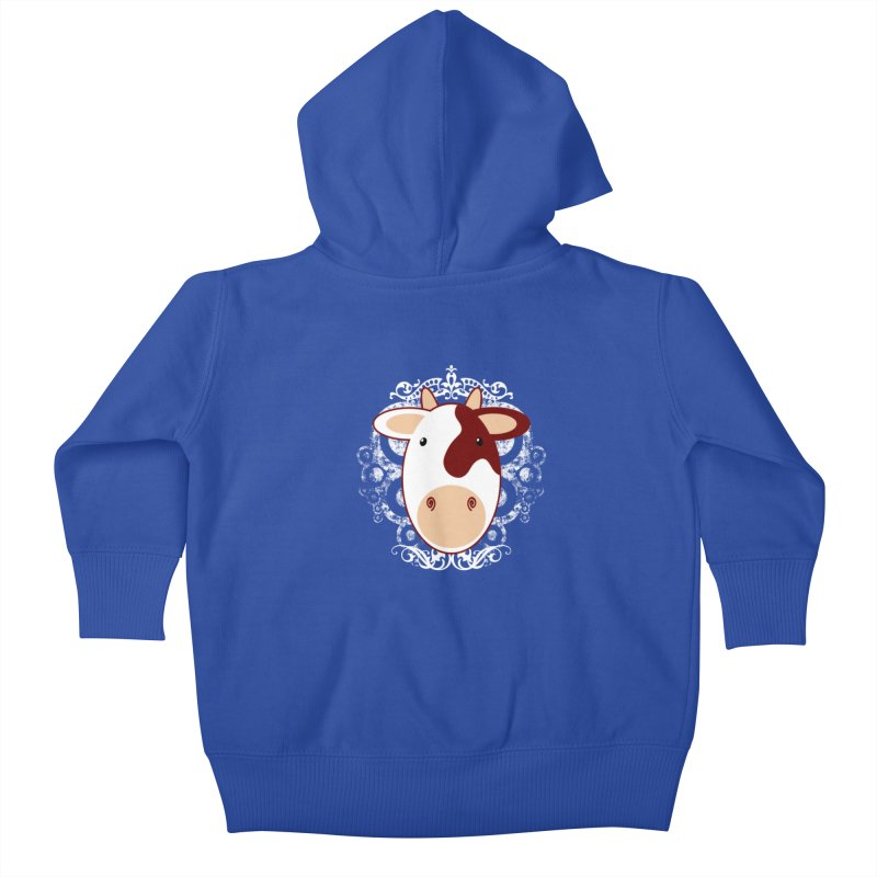 Cowwy Kids Baby Zip-Up Hoody by Ideacrylic Shop