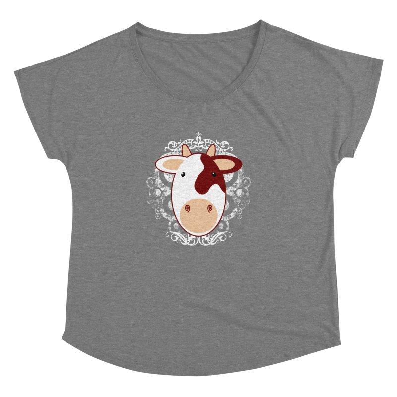 Cowwy Women's Dolman Scoop Neck by Ideacrylic Shop