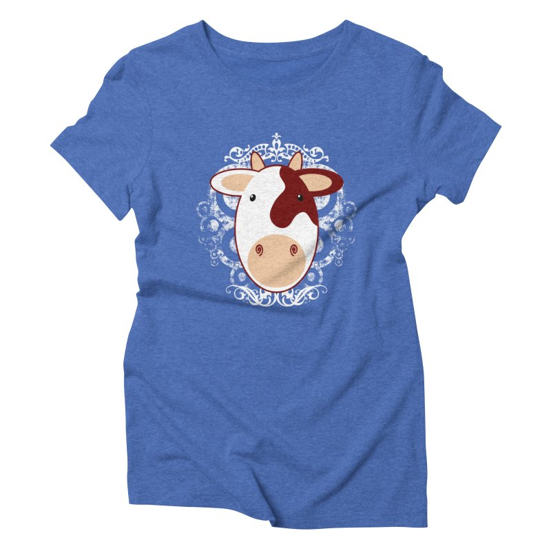 Cowwy Women's Triblend T-Shirt by Ideacrylic Shop