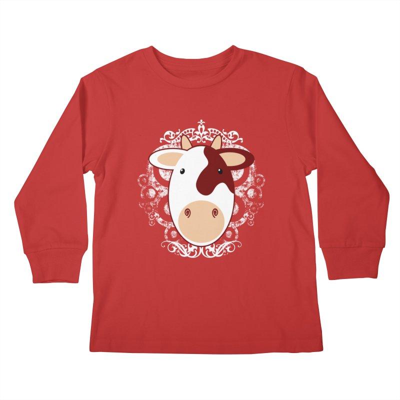 Cowwy Kids Longsleeve T-Shirt by Ideacrylic Shop